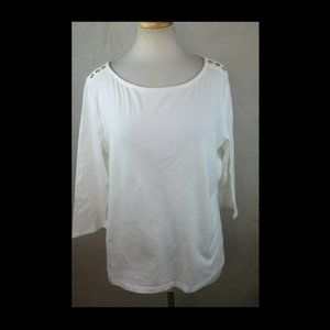 A New Day Women's XXL Top - Blouse, 3/4 Sleeves